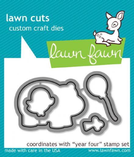 LF0660 S ~ YEAR FOUR- HIPPO ~ DIES BY LAWN FAWN